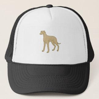 Greyhound Dog Standing Mono Line Trucker Hat