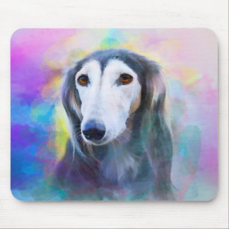 Greyhound Dog Watercolour Art Painting Mouse Pad