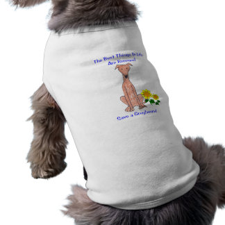 Greyhound Fawn Best Things In Life Dog T-Shirt