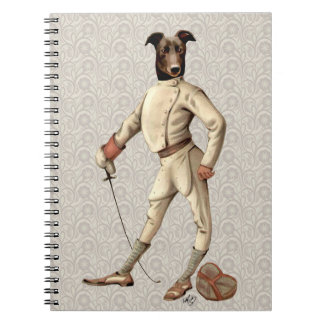 Greyhound Fencer in Cream Full 2 Notebooks