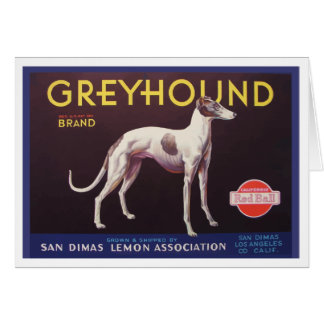 Greyhound Fruit Crate Label Card