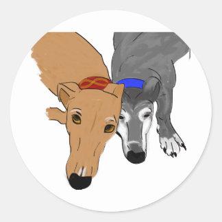 Greyhound Gear Classic Round Sticker