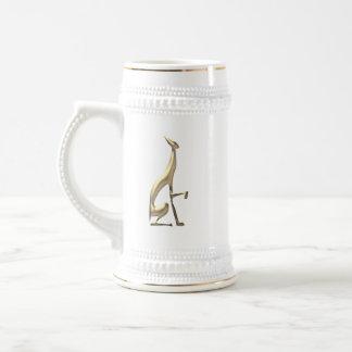 Greyhound Golden Dog Elegant Graceful Minimal Chic Beer Stein