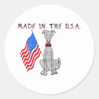 Greyhound Grey Made In The USA Sticker