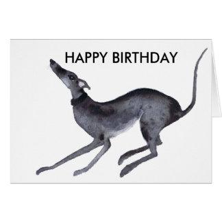 GREYHOUND HAPPY BIRTHDAY GREETING CARD