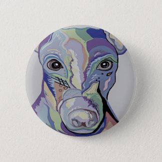 Greyhound in Denim Colors 6 Cm Round Badge