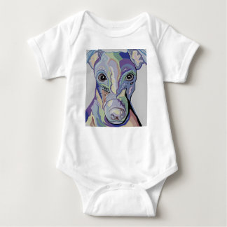 Greyhound in Denim Colors Baby Bodysuit