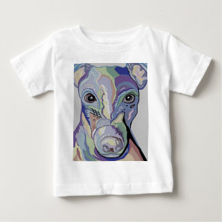 Greyhound in Denim Colors Baby T-Shirt