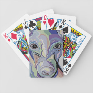 Greyhound in Denim Colors Bicycle Playing Cards