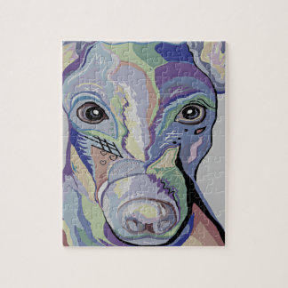 Greyhound in Denim Colors Jigsaw Puzzle