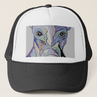 Greyhound in Denim Colors Trucker Hat