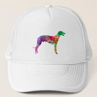 Greyhound in watercolor trucker hat