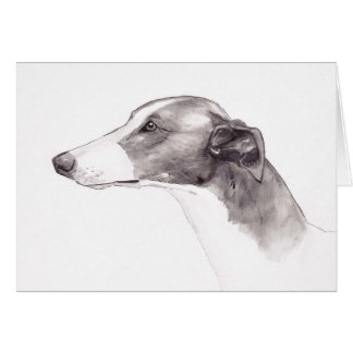 Greyhound  Ink Drawing Greeting Cards