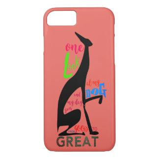 Greyhound Italian My Dog Love Elegant Silhouette iPhone 8/7 Case