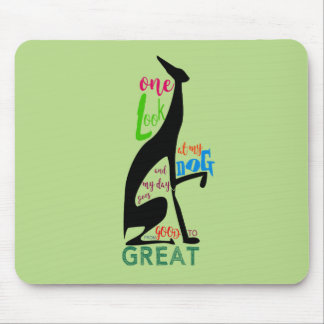 Greyhound Italian Silhouette Love My Dog Stylish Mouse Pad