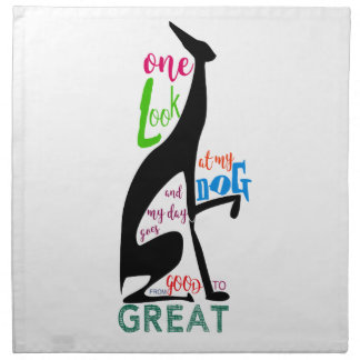 Greyhound Italian Silhouette Love My Dog Stylish Napkin