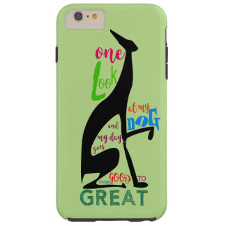 Greyhound Italian Silhouette Love My Dog Stylish Tough iPhone 6 Plus Case