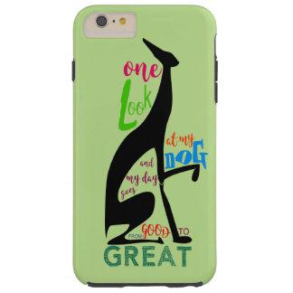 Greyhound Italian Silhouette Love My Dog Stylish Tough iPhone 6 Plus Case