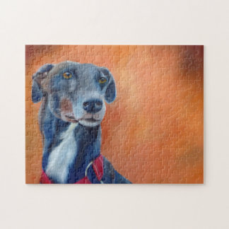 Greyhound jigsaw puzzle (a397)