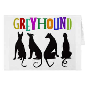 Greyhound Love Card