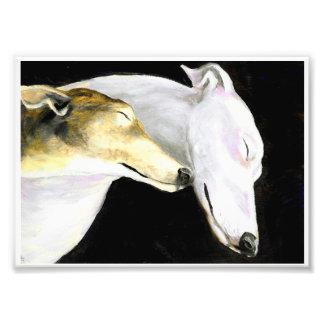 Greyhound Love Dog Art Photo Print