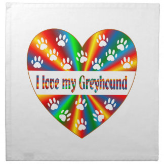 Greyhound Love Napkin