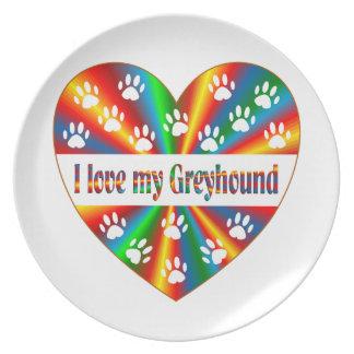 Greyhound Love Plate
