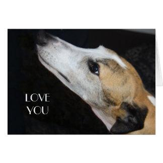 Greyhound Love You Card
