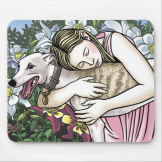 Greyhound Lover Mouse Pad