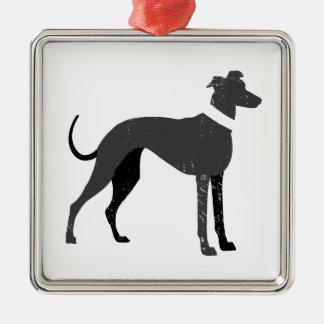 Greyhound Metal Ornament
