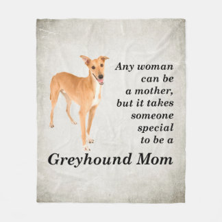 Greyhound Mom Fleece Blanket