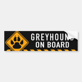 Greyhound On Board Bumper Sticker