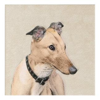 Greyhound Painting - Cute Original Dog Art