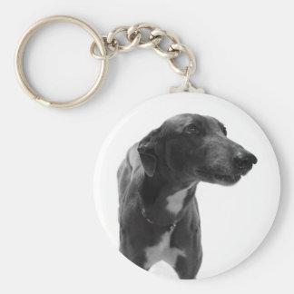 Greyhound Photo Key Ring