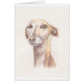 Greyhound portrait card