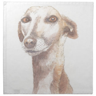 Greyhound portrait napkin