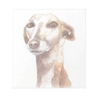 Greyhound portrait notepad