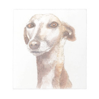Greyhound portrait notepads
