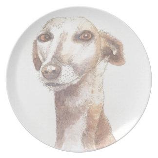 Greyhound portrait plate