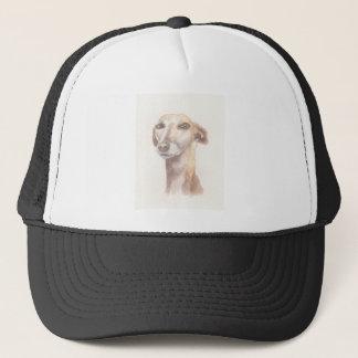 Greyhound portrait trucker hat