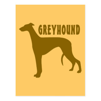 Greyhound Postcard