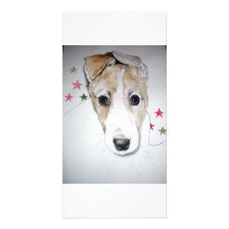 Greyhound Puppy Customized Photo Card