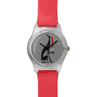 Greyhound Red Stripes Christmas Elegant Dog Cool Watch