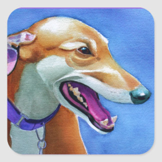Greyhound Rescue Square Sticker
