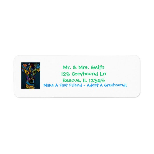 Greyhound - Retired Racing Rescue Return Address Label