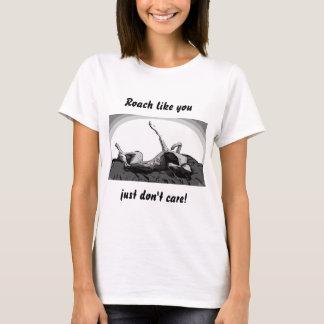 Greyhound Roach on White T-Shirt