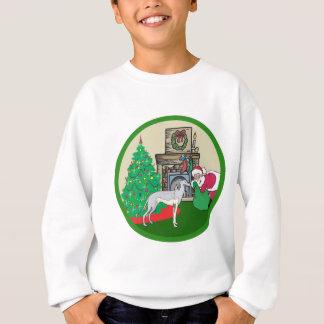 greyhound santas sweatshirt