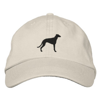 Greyhound Silhouette Embroidered Hat