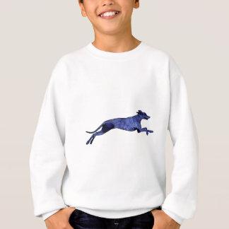 Greyhound Silhouette Fractal Sweatshirt