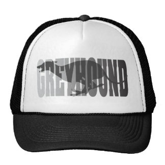 Greyhound Silhouette, Grey Cap